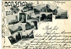 Collage met afbeeldingen van Oirschot en een foto van koningin Wilhelmina - 1898