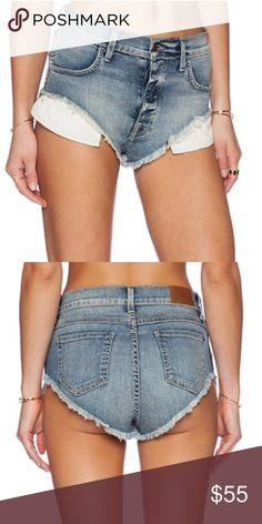 "WILDFOX Beach Butt High Waist Denim Shorts Cotton blend Waist: 30"", Hips: 32"", Rise: 10.5"", Inseam: 1/2"" Raw cut hem Sea salt wash Wildfox Shorts Jean Shorts"