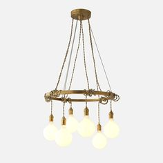 "$499. Ring is 21""D. You choose the height by the inch. Tangled Chandelier - Natural Brass"