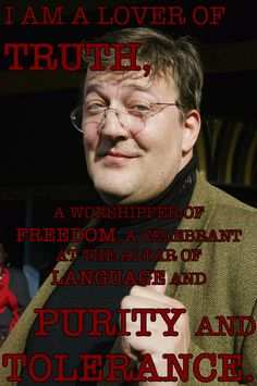 So many reasons to love Stephen Fry. Click to read more of his wonderful quotes. Buzzfeed.