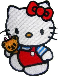 New Hello Kitty Cartoon Comics Cartoon Logo Kid Polo T Shirt Patch Red Embroidered 5cm X 6.7cm >>> Click image to review more details.