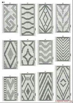 Discover thousands of images about Resultado de imagen para crochet pattern wayuu bag Tapestry Crochet Patterns, Bead Loom Patterns, Weaving Patterns, Stitch Patterns, Filet Crochet, Crochet Diagram, Diy Crochet, Crochet Style, Tunisian Crochet