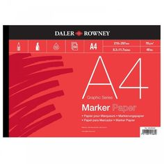 [6,85] Daler - Rowney Bleed Proof A4 Marker Pad