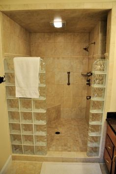 Resultado de imagen para master bathroom beige shower brown floor