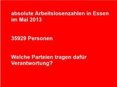 absolute Arbeitslosenzahlen in Essen