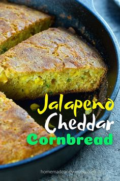 Spicy, cheesy and packed with corn. This traditional buttermilk cornbread is sure to be a hit in your house. #cornbreadrecipe #southercornbread #castironcooking #buttermilkcornbread Fall Dinner Recipes, Lunch Recipes, Breakfast Recipes, Spring Recipes, Sweets Recipes, Breakfast Ideas, Yummy Recipes, Jalapeno Cheddar Cornbread, Cheesy Cornbread