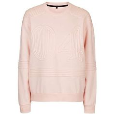 Corded '04' Sweatshirt by Ivy Park - Topshop (4.325 RUB) ❤ liked on Polyvore featuring tops, hoodies, sweatshirts, pink top, topshop, topshop tops and pink sweatshirts