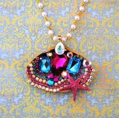 Shell of Bling Necklace http://www.etsy.com/listing/70026141/on-sale-stunning-shell-of-bling-crystal