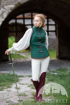 Vest part from our two piece gambeson designed for female stature. Made from cotton. Action Pose Reference, Human Poses Reference, Pose Reference Photo, Action Poses, Hand Reference, Anatomy Reference, Grandeur Nature, Character Poses, Character Design