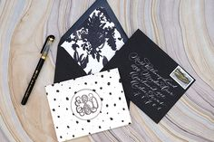 DIY Tutorial: How to Create Unique Personal Stationery with Rubber Stamps by Antiquaria for Oh So Beautiful Paper