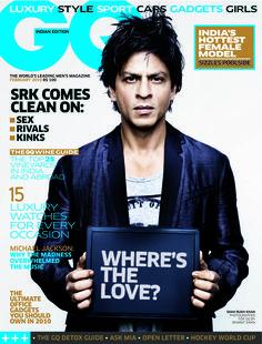 Shah Rukh Khan. GQ India February 2010.