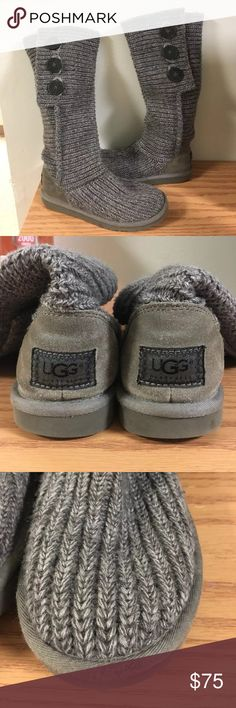 UGGS Classic Cardy Grey •like new condition, lightly worn  •minor wear on front of boot in third photo, only noticeable up close •current retail price is $150 •smoke free, hypoallergenic (non shed) dog home •price negotiable, make an offer! •no trades UGG Shoes Winter & Rain Boots