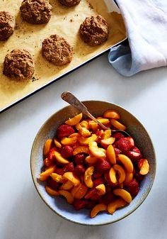 Strawberry $ Apricot Cornmeal Cobbler (Gluten-free) / Sassy Kitchen