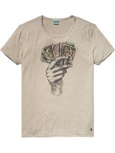 Meliertes Baumwoll-T-Shirt | T-Shirt S/S | Herrenbekleidung von Scotch & Soda