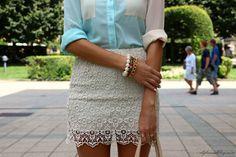 Sabo Skirt Shirt ( Shirts & Blouses & Lace Skirts ) with
