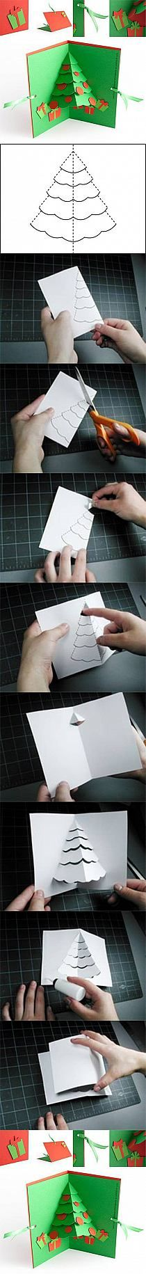 DIY Christmas Tree Pop Up Card DIY Projects | UsefulDIY…
