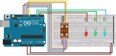 Circuito TCS230 - TCS3200 Arduino Uno