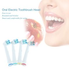 4Pcs White Rotating Replacement Oral Electric Toothbrush Head Oral Health