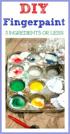 11 Super Simple Homemade Paint Recipes--3 Ingredients or less!