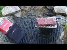 Folding Firebox Stove Steak & Potato - YouTube