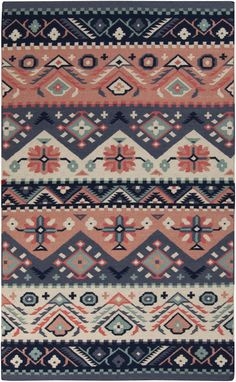Quaint and feminine, this rug is reminiscent of the prairie days, when things were a bit simpler.