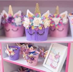 Festa do Unicórnio +de 200 Ideias para Sua Festa! First Birthday Parties, Birthday Party Themes, First Birthdays, Birthday Decorations, Birthday Ideas, 5th Birthday, Unicorn Themed Birthday, Unicorn Baby Shower, Bday Girl