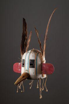 Hopi Kachina helmet shaped dance mask