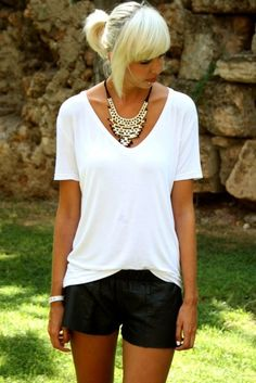 Womens t shirt v neck short sleeves top   LET IT BE by holacrystal