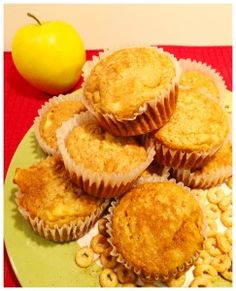 The two main ingredients in these kids-friendly apple cinnamon muffins are cheerios and applesauce! Great breakfast or snack idea!