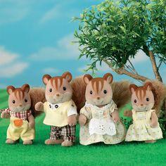 Buy Sylvanian Families - Walnut Squirrel Family