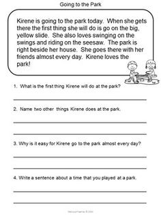 Reading Comprehension Passages for Second Grade