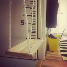 Swinging good Friday!  #tgif #friday #swing #keinu #keinulauta #eteinen #lastenhuone #kidsroom #myhome #koti #instahome #homeinterior #inredning #interior #interiordesign #sisustus #sisustusinspiraatio #omakoti