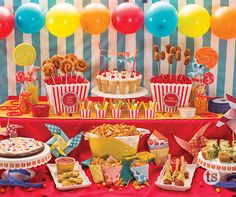 circus themed nurseries and parties party snacks and sweets