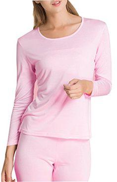 420a68dd65dba0 Fashion Silk Women's Thermal Underwear Sets Knit Silk Top & Bottom Base  Layering Sets at Amazon Women's Clothing store: