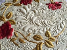 "If you follow my blog you know I am obsessed by quilting vintage linens. My favorite being ""silk society"" embroideries. This particular piece was very old and fragile, most likely late …"