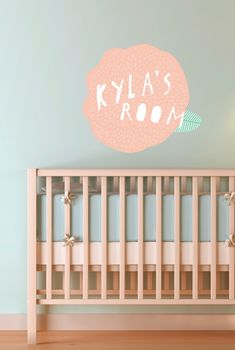 Personalized Flower Wall Decal BY SURYA SAJNANI