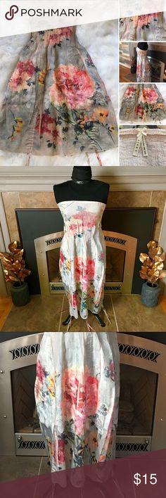 💐Stunning Lapis Convertible Skirt/Dress💐 💐💐💐This Anthropologie boho strapless dress/skirt with convertible ribbons is New Without Tagd💐💐💐 Anthropologie Dresses