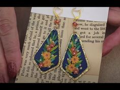 Very Easy Bead Embroidery Style Earrings - Beginner Tutorial - YouTube Polymer Clay Embroidery, Beaded Embroidery, Jewelry Making Tutorials, Clay Tutorials, Pearl Design, Earring Tutorial, Polymer Clay Projects, Clay Flowers, Polymer Clay Earrings
