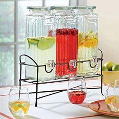 triple beverage server. Black Bedroom Furniture Sets. Home Design Ideas
