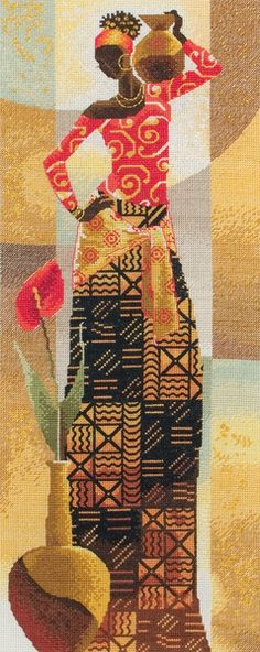 Knitting, crochet, embroidery, sewing and tons of inspiration for your next project. Cross Stitch Art, Counted Cross Stitch Kits, Cross Stitching, Cross Stitch Patterns, One Stroke Painting, Sewing Art, Cross Paintings, African Art, Needlepoint