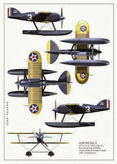 A Garagem Digital de Dan Palatnik | The Digital Garage Project: Curtiss R3C-2 Ortho views