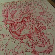 """Gefällt 3,518 Mal, 31 Kommentare - Elvin Yong (@elvintattoo) auf Instagram: """"Sketch for my client"""""""