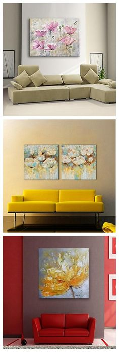 Use some of these modern flowery oil painting canvas to style your home.