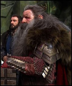 young thorin and his father thrain