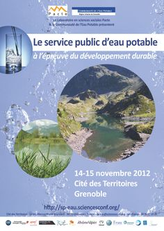 Le service public d'eau potable à l'épreuve du développement durable (14-15 novembre 2012)