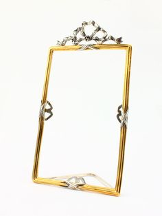 """Square silver photoframe """"Bow"""" #VintageRetro"""