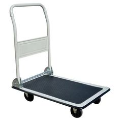 Pro-Series by Buffalo Tools Silver Steel Heavy Duty Platform Truck at Lowe's. Keep the handy Pro-Series folding platform truck close at hand to make moving bulky loads easy and safely. With a 300 lbs. load capacity, the folding Folding Cart, Warehouse Club, Trucks Only, Utility Cart, Moving Boxes, Storage Cart, Easy Storage, Mobile Storage, Furniture Dolly