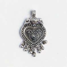 Pandantiv yoni păuni și ciucurași, argint, India