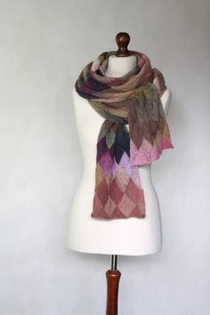 LOVE the beautiful colors...Knit scarf/shawl by KnitwearFactory, $116.00
