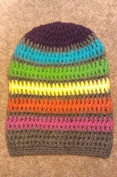 Rainbow Slouchy Beanie Crochet Photography Prop by RAiNBOWNiKKi, $24.00